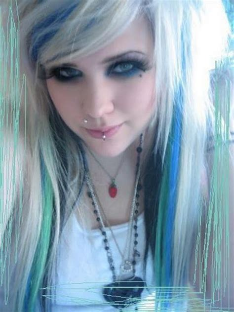 emo hairstyles blue and blonde a care n style 07 31 11