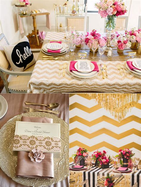 pink and gold bridal shower decorations decor ideas for a pink gold bridal shower trueblu