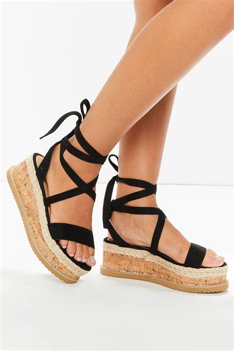 black tie up sandals ariella black suede tie up espadrille platform sandals