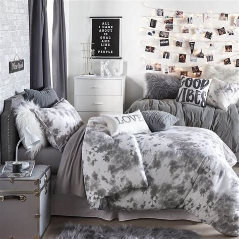 Black And White Bedroom Ideas For Teenage Girls tie dye jersey comforter and sham set dormify