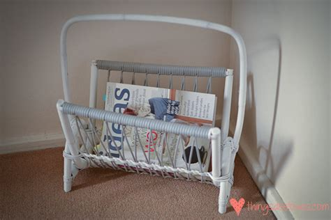 upcycled magazine rack loving an upcycled magazine rack diy things