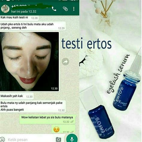 Review Ertos Eyelash Serum Indonesia ertos care original paling murah agen pusat erto
