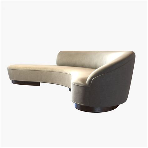 arm couch vladimir kagan freeform curved sofa with arm 3d model max