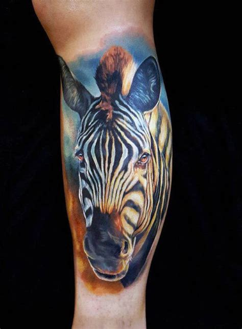 zebra tribal tattoo 40 zebra tattoos for safari striped design ideas