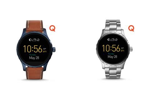 Fossil Qmarshall Brown fossil q marshall and q wander smartwatches are now available in india