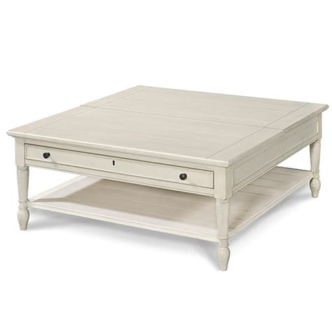 country chic table country chic white wood square coffee table with lift top
