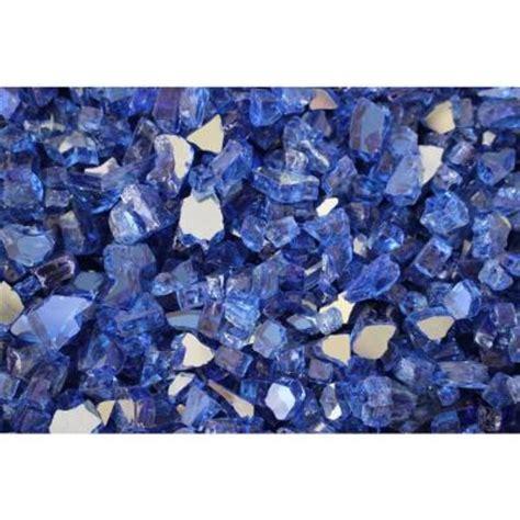 Fireplace Glass Rocks Home Depot by Margo Garden Products 10 Lb Cobalt Blue Reflective