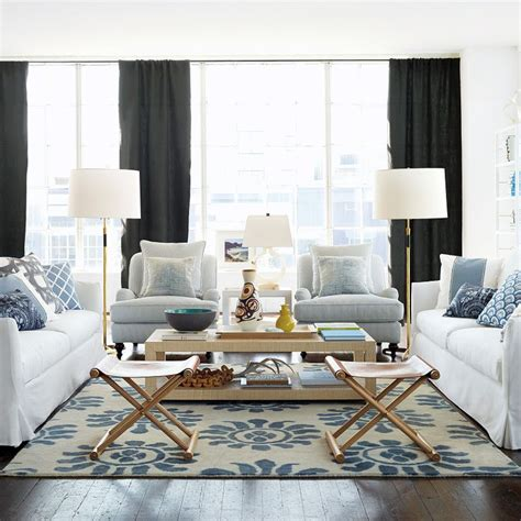 blue and white living rooms chic combination blue white arianna belle the blog