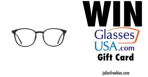 win a 175 glasses usa gift card julie s freebies - Consumer Products Usa Free Gift Card