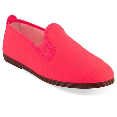 unisex javer flat shoes flossy style plimsoll pumps school