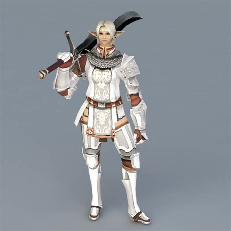 high elf knight  model ds max files