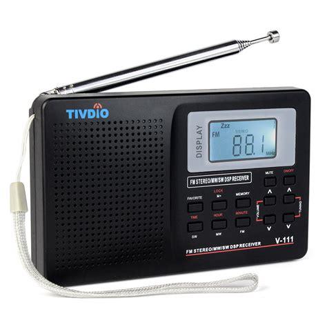 The Radio tivdio v 111 portable am fm shortwave radio alarm clock