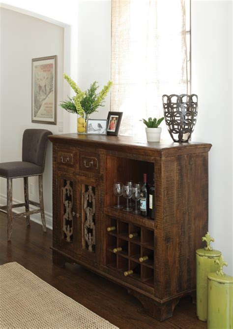 wine cabinet buffet design
