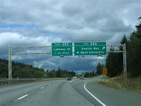 Washington @ AARoads - Interstate 5 North - Whatcom County I 5 Exit 71 In Washington State