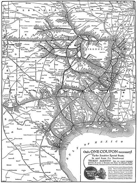 missouri pacific railroad map the missouri pacific railroad the quot mopac quot