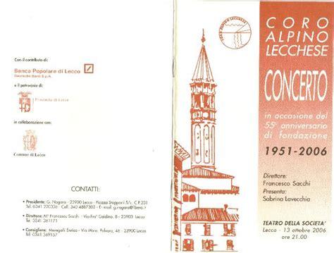 popolare provinciale lecchese coro alpino lecchese
