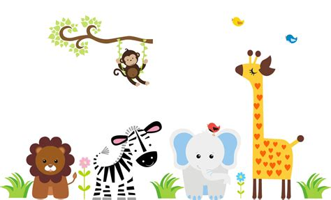 baby animal wall stickers jungle animal wall decal baby wall decal animal wall decals pinte