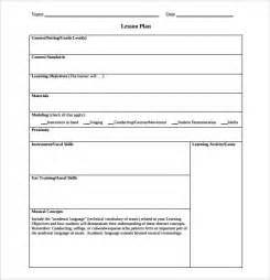 sample music lesson plan template 7 download documents