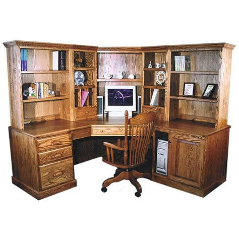 Traditional Corner Desk Amish Desks Amish Furniture Shipshewana Furniture Co