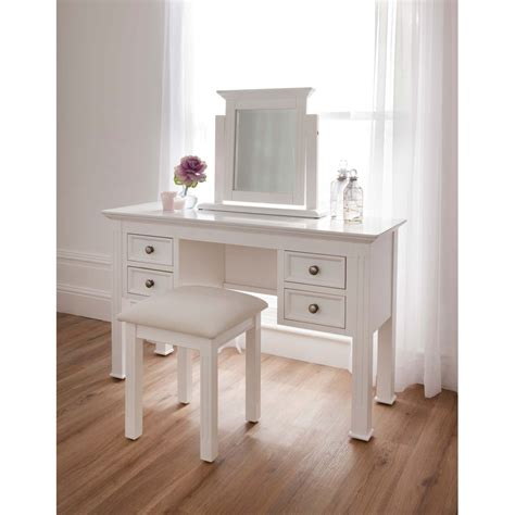 sophia shabby chic dressing table set white finished