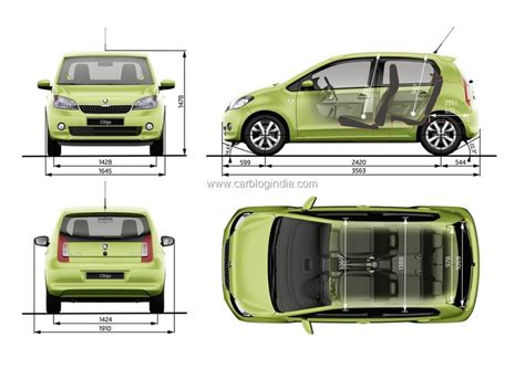 car dimensions in feet skoda citigo small car india pictures features and details
