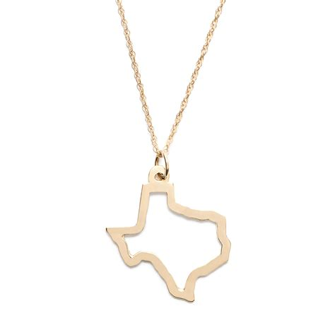 j crew brenner 14k gold state necklace in metallic lyst