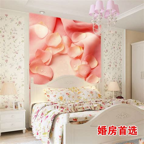 pink floral bedroom ideas exquisite wall coverings from china