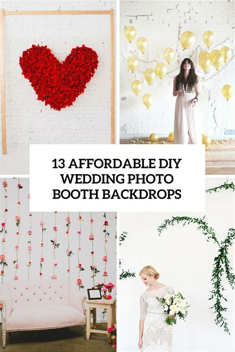 wedding backdrop cost 13 diy wedding photo booth backdrops that are entertaining
