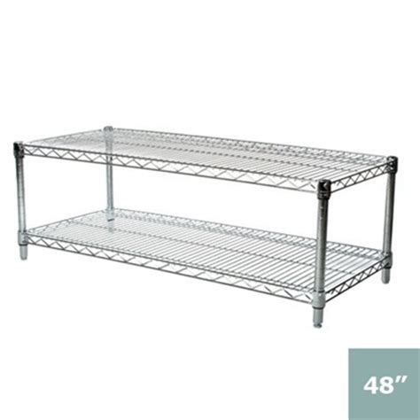24 quot depth wire shelving unit with 2 shelves shelving inc