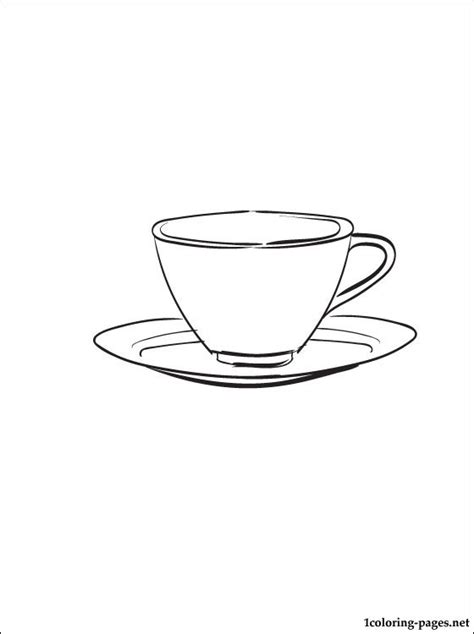 coloring pictures kitchen utensils saucer coloring page coloring pages