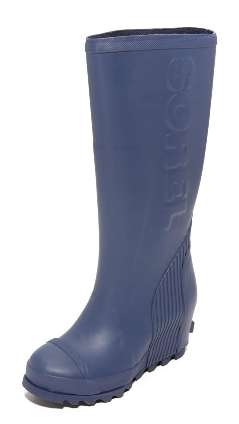 sorel wedge boots sorel joan wedge boots in blue lyst