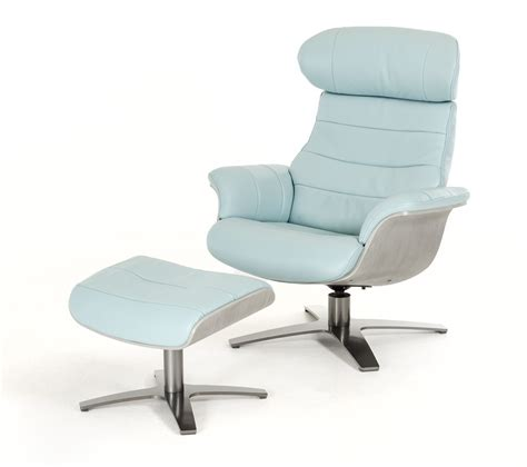 modern blue leather chair divani casa charles modern blue leather reclining chair w