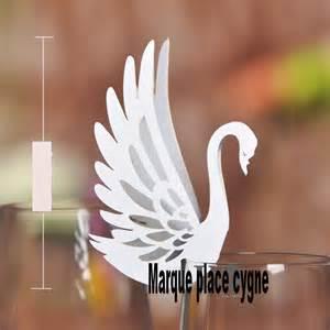 marque place oiseau deco table mariage fete