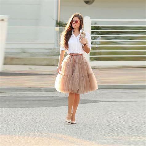 Rok Tutu Brenda Mini Skirt aliexpress buy khaki tutu skirt knee length a line