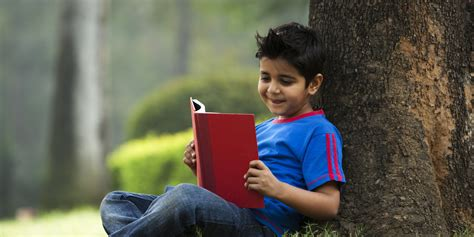 picture of child reading book how we learnt to read indian connect