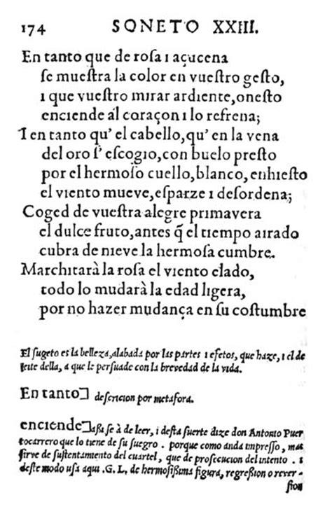 imagenes sensoriales del soneto xxiii 3 186 de eso rinc 243 n del currante