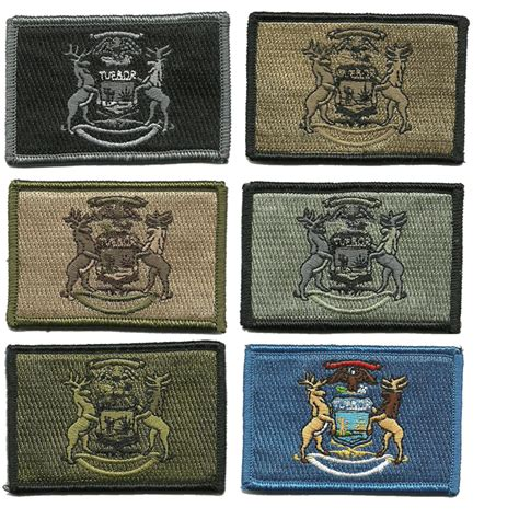 state tactical patches 2x3 michigan state tactical patch