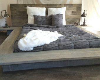 weathered driftwood finish platform bed base ca king