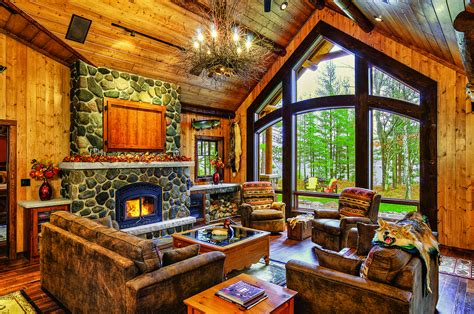 Interior Country Homes by A Cabin Up North