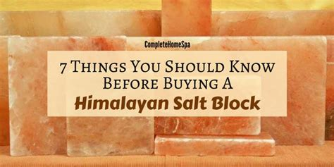 How To Use Himalayan Salt Block For Detox by 7 Things To Before You Buy A Himalayan Salt Block