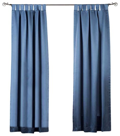 tab top cafe curtains blue tab top 90 blackout cafe curtain drape panel 50