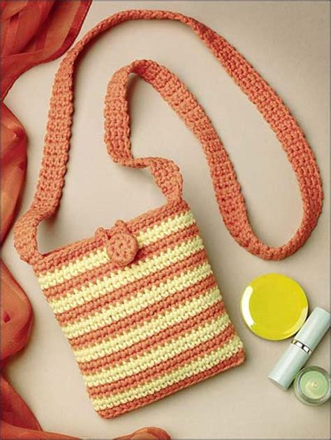 crochet pattern small shoulder bag crochet crochet handbag patterns little striped