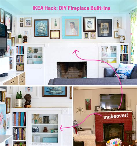 ikea fireplace hack ikea hack diy fireplace built ins the paper