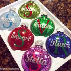 personalized glitter ornaments glitter ornaments super