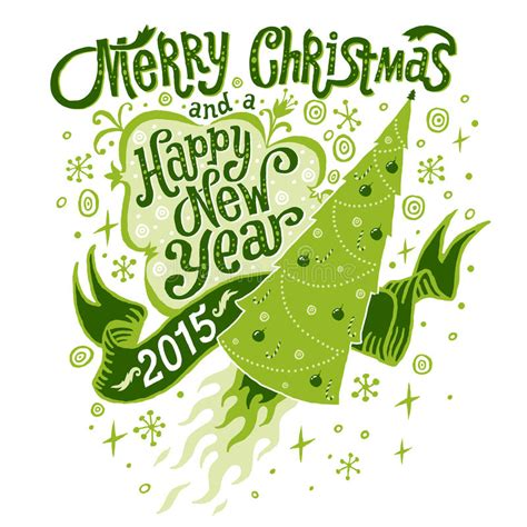 new year card 2015 vector merry and happy new year 2015 greeting card with