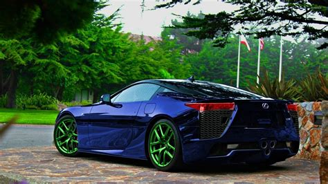 lexus dark blue dark blue lexus lfa back side view wallpaper car