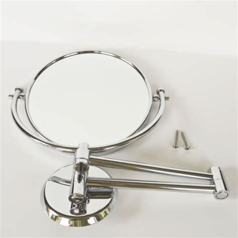 swing arm vanity mirror chrome wall mount mirror vanity shaving 14 1 2 swing arm
