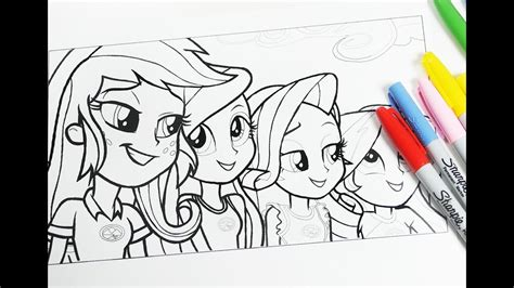 equestria girls mlp coloring pages  kids coloring book