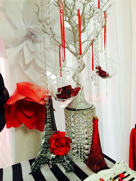 quinceanera themes red french parisian quincea 241 era party ideas decoration