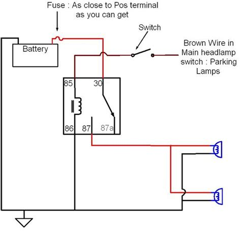 driving light relay diagram wiring driving lights with high beams f150online forums